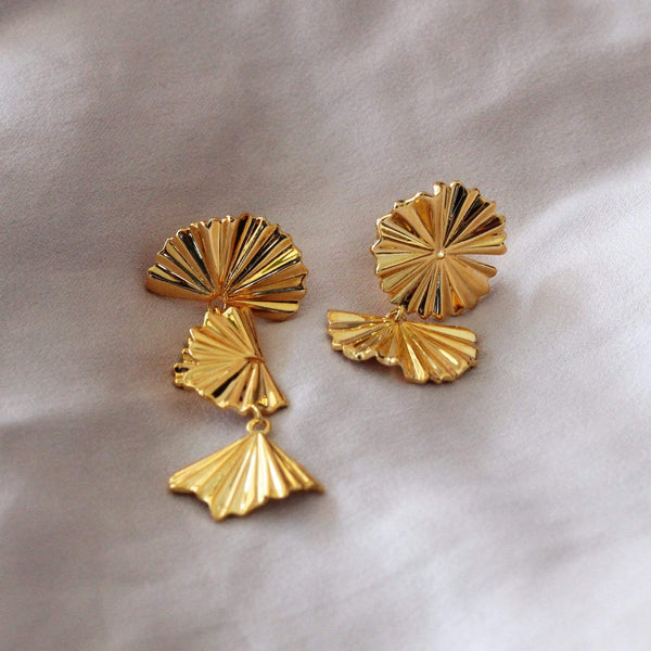 Sterling silver earrings with 18ct gold plating by hemera and nyx jewellery
