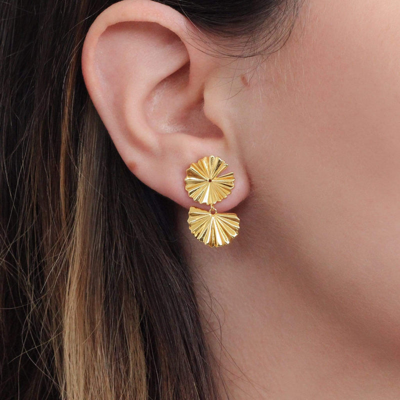18ct gold sterling silver festive earrings