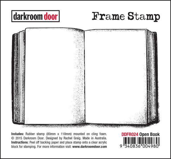 Darkroom Door Frame Stamp Open Book