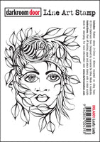 Darkroom Door Line Art Stamp Leafy Lady