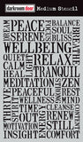 "Darkroom Door Stencil 6x9"" Wellbeing"