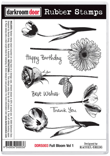 Darkroom Door Rubber Stamp Set Full Bloom Vol 1