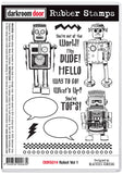 Darkroom Door Rubber Stamp Set Robot Vol 1
