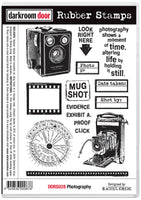 Darkroom Door Rubber Stamp Set Photography