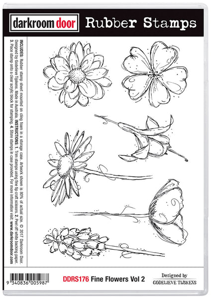 Darkroom Door Rubber Stamp Set Fine Flowers Vol. 2
