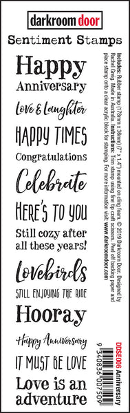 Darkroom Door Sentiment Stamps Anniversary