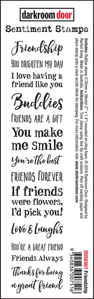 Darkroom Door Sentiment Stamps Friendship