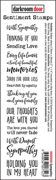 Darkroom Door Sentiment Stamps Sympathy