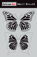 "Darkroom Door Stencil 4.5x6"" Butterflies"