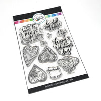 Catherine Pooler Designs Stamp Set Doodle Hearts