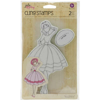 Julie Nutting Prima Doll Cling Stamp Audrey