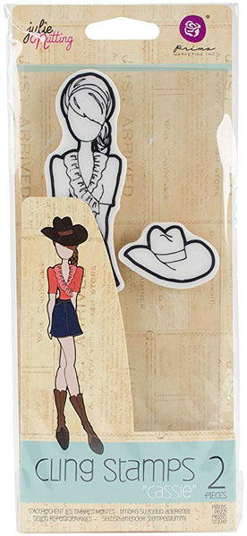 Julie Nutting Prima Doll Cling Stamp Cassie