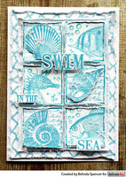 Darkroom Door Collage Stamp Seaside Squares