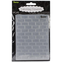 Darice Embossing Folder Brick Pattern