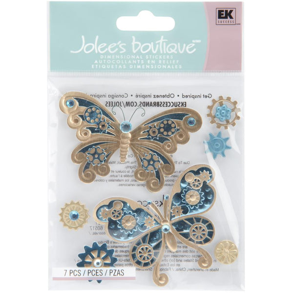 Jolee's Boutique Dimensional Stickers Steampunk Butterflies