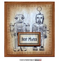 Darkroom Door Rubber Stamp Set Robot Vol 2