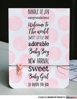 Darkroom Door Sentiment Stamps Baby