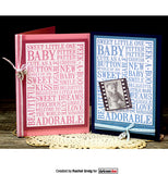 Darkroom Door Word Block Stamp Baby