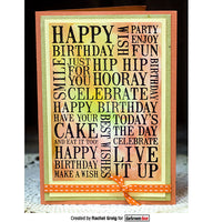 Darkroom Door Word Block Stamp Birthday