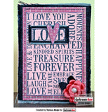 Darkroom Door Word Block Stamp Love