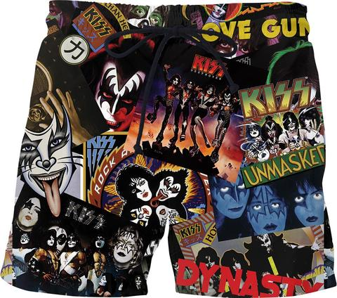 KISS Discography Mens Swim Shorts