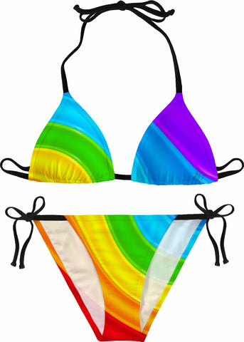 Be A Rainbow Womens Bikini - GetRealFunky.com