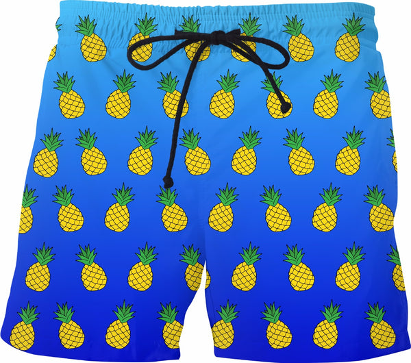 Fruity Pineapple Mens Swim Trunks - GetRealFunky.com