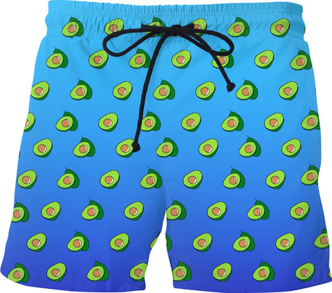Yummy Avocado Mens Swim Trunks - GetRealFunky.com