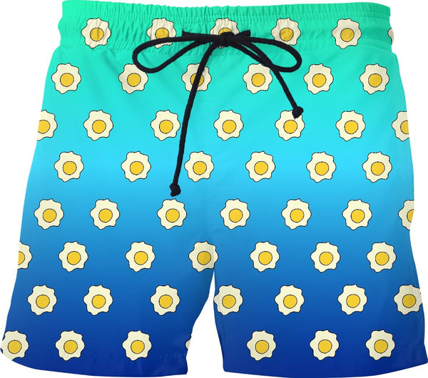 Fried Eggs Mens Swim Trunks - GetRealFunky.com