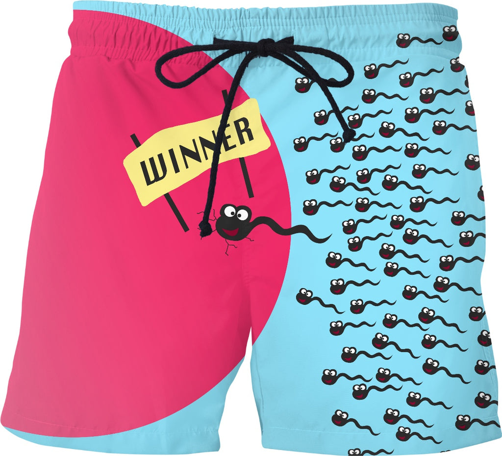 Winning Sperm Mens Swim Trunks