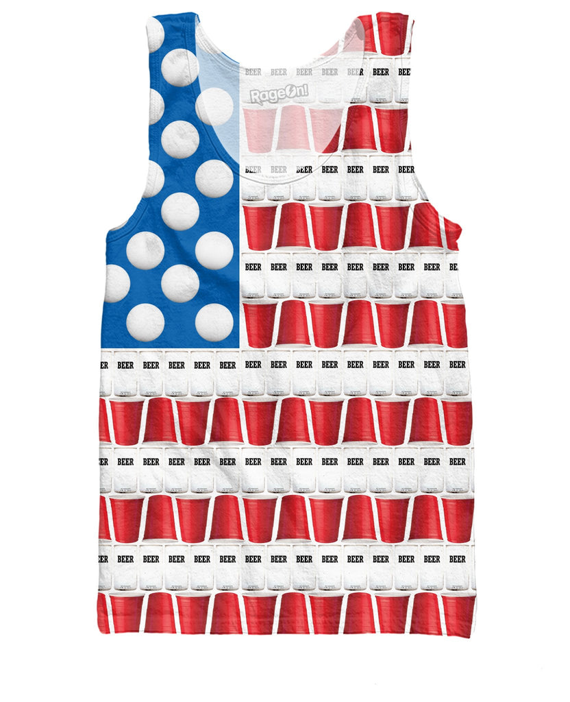 Beer Pong USA Mens Tank Top