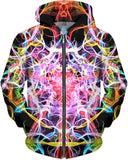 Psychedelic Electric Smoke Unisex Hoodie - Sweet Satisfaction