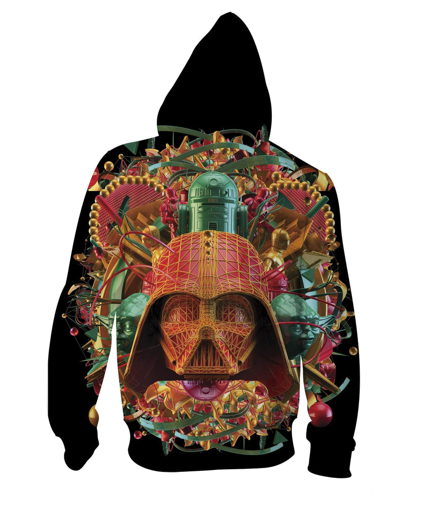 Psychedelic Dark Empire Zip-Up Unisex Hoodie Back