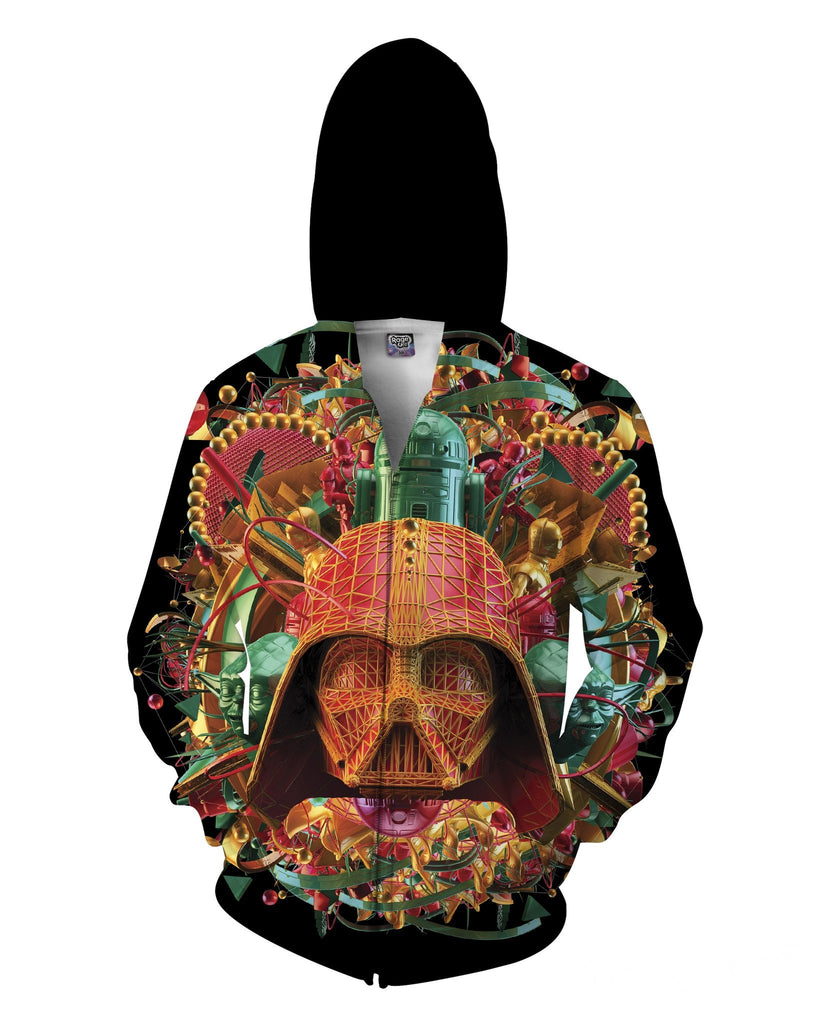 Psychedelic Dark Empire Zip-Up Unisex Hoodie - Sweet Satisfaction