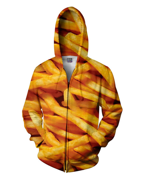 French Fries Zip-Up Unisex Hoodie - Sweet Satisfaction