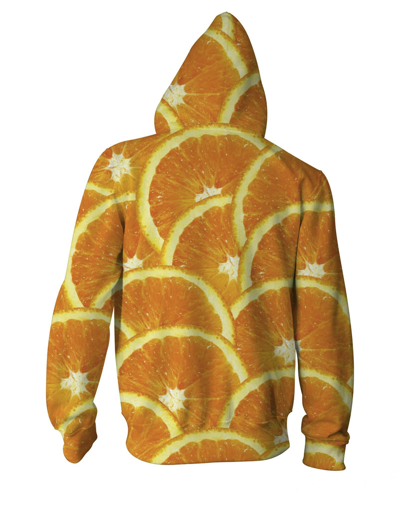 Oranges Zip-Up Hoodie - Sweet Satisfaction