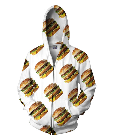 Macky D's Big Mac Zip-Up Unisex Hoodie - GetRealFunky.com