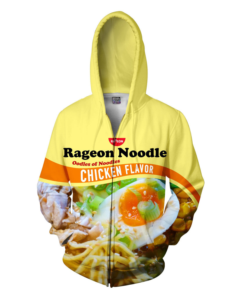RageOn Noodle Zip-Up Hoodie - Sweet Satisfaction