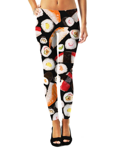Yummy Sushi Womens Leggings - GetRealFunky.com