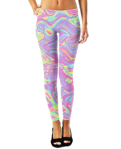 Pastel Waves Womens Leggings - GetRealFunky.com