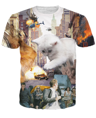 Cat On The Attack Unisex Tee - GetRealFunky.com