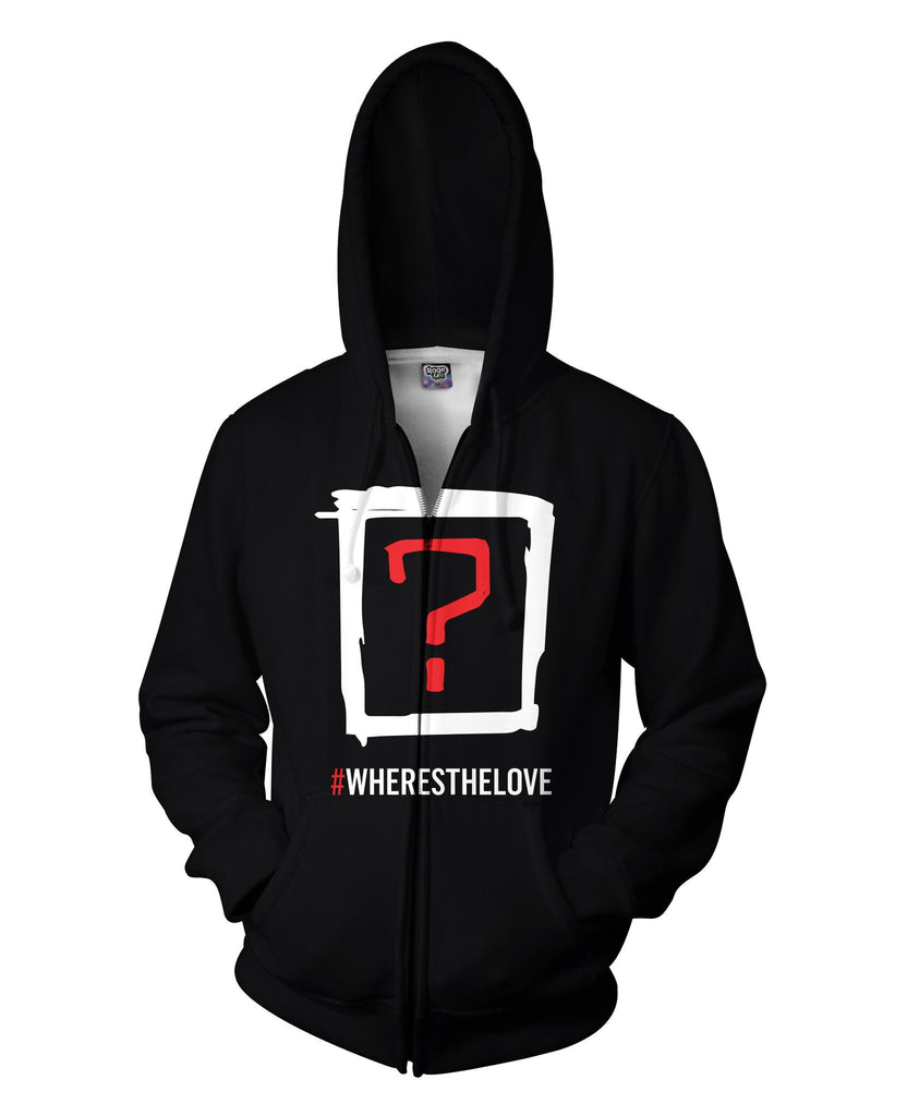 Where's the Love Double Sided Hoodie - Sweet Satisfaction