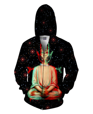 Hand of God Zip-Up Unisex Hoodie - GetRealFunky.com