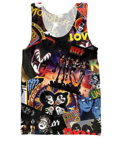 KISS Discography Tank Top