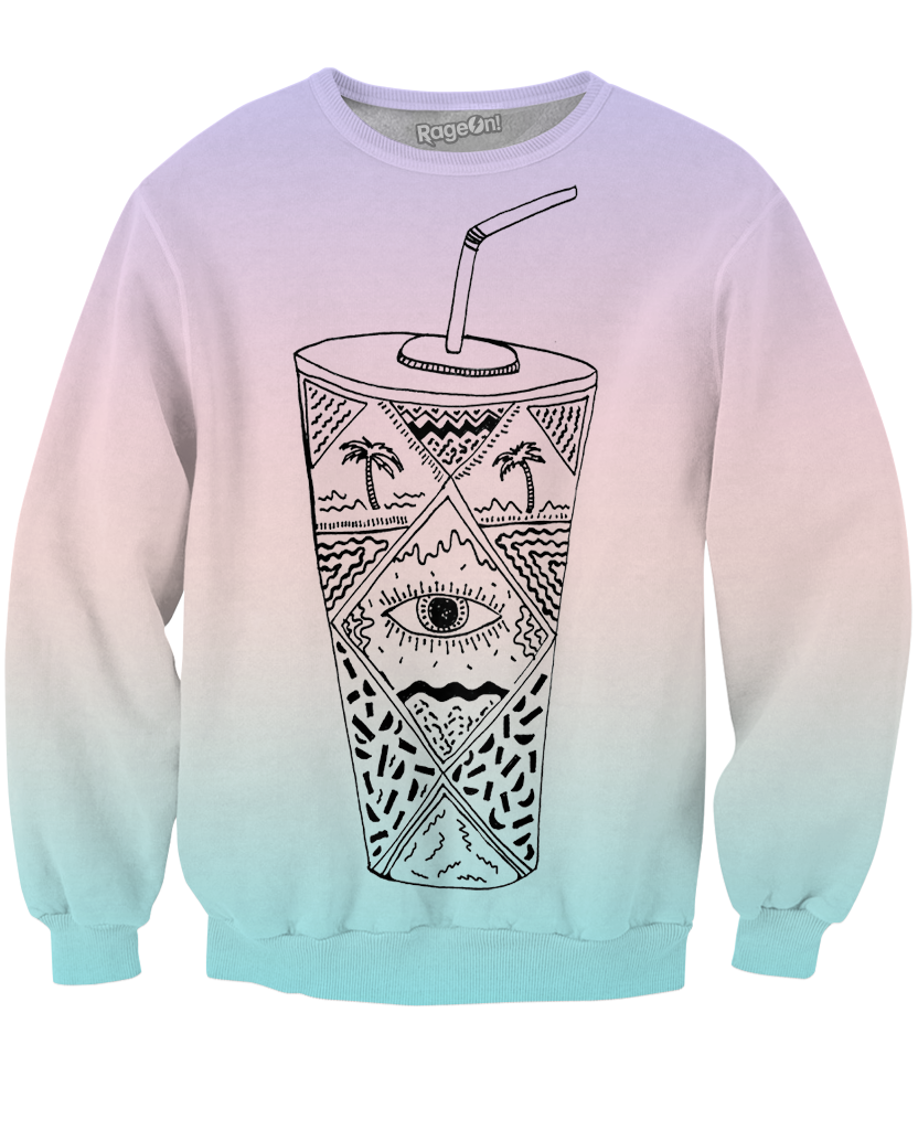 Soda Wavves Crewneck Sweatshirt - Sweet Satisfaction