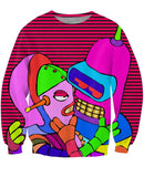 Bender Robot Action Unisex Sweatshirt - Sweet Satisfaction