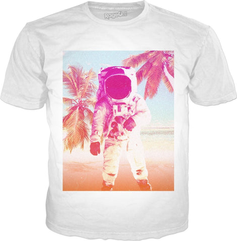 Sunny Beach Astronaut Unisex Tee - Sweet Satisfaction