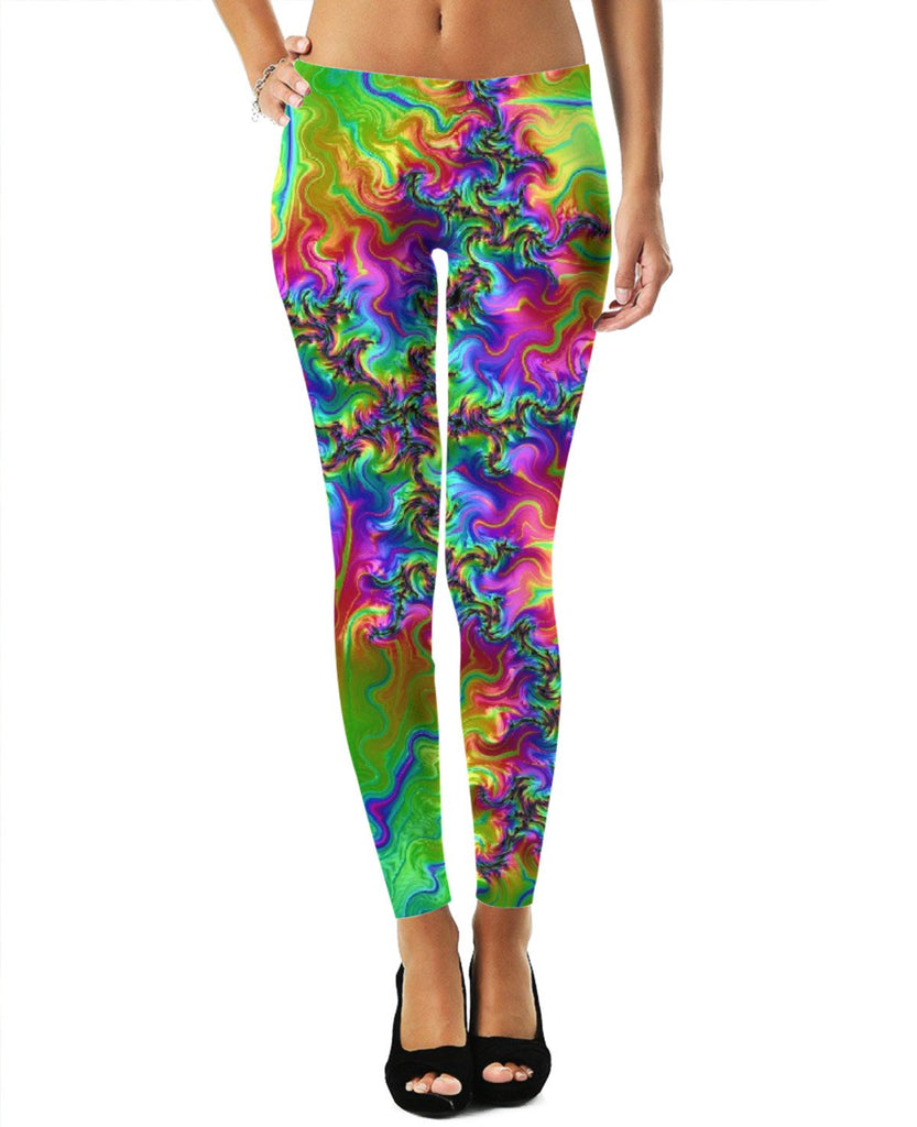 Trippy Womens Leggings - GetRealFunky.com