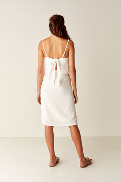 Wrap Midi Skirt - WHITE