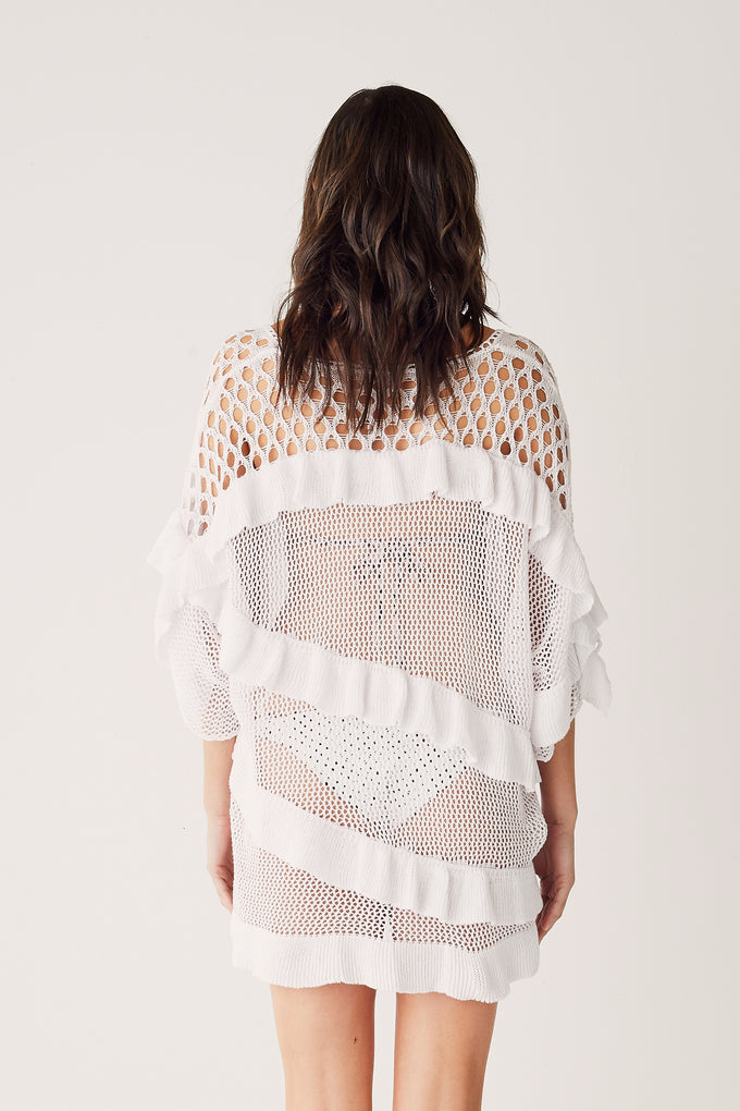 Knit Kaftan - White